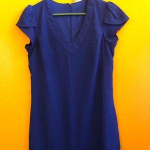 A blue mid dress